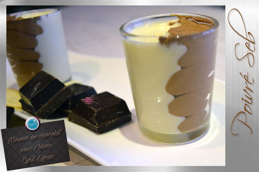 Mousse au chocolat noir et blanc Cyril Lignac copie