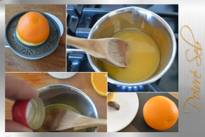 Œuf glacé dans sa coquille au chocolat_Sirop d'orange
