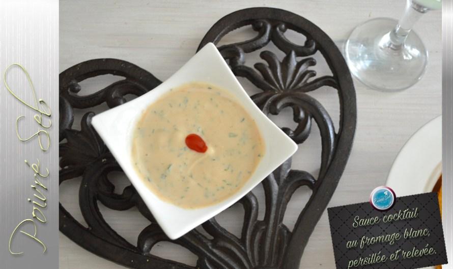 Sauce cocktail au fromage blanc, persillée et relevée