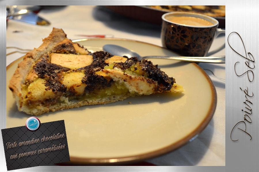 Tarte amandine chocolatine aux pommes caramélisées café 2