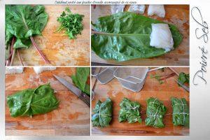 Cabillaud poché aux feuilles d'oseille accompagné de sa sauce préparation