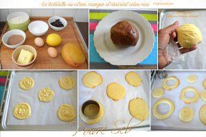 La tartelette au citron, mangue et chocolat selon moi préparation