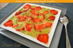 Carpaccio de fraises et de kiwis