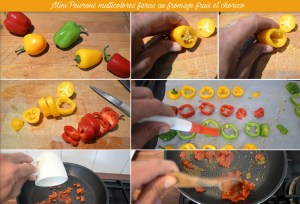 Préparation Mini Poivrons multicolores farcis
