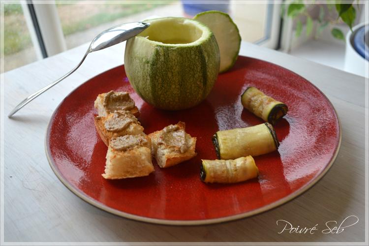 velouté de courgettes au sel de Camargue à la truffe noire