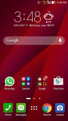 Since I got myself the red Zenfone 2, the interface was also matched by default.