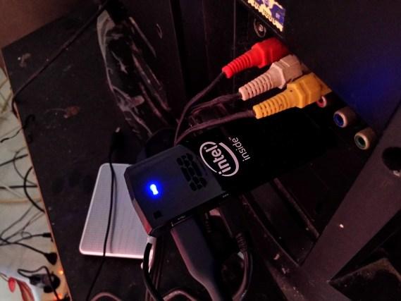 Compute Stick in use