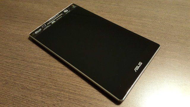Black glossy display. It has an IPS underneath it. Adore it!