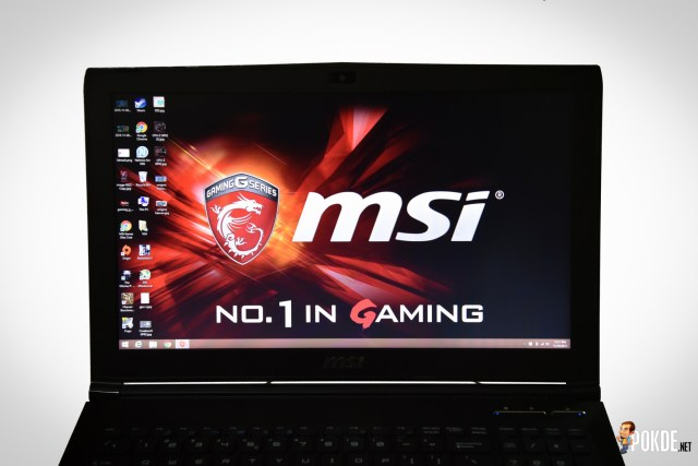 MSI GP62 screen front