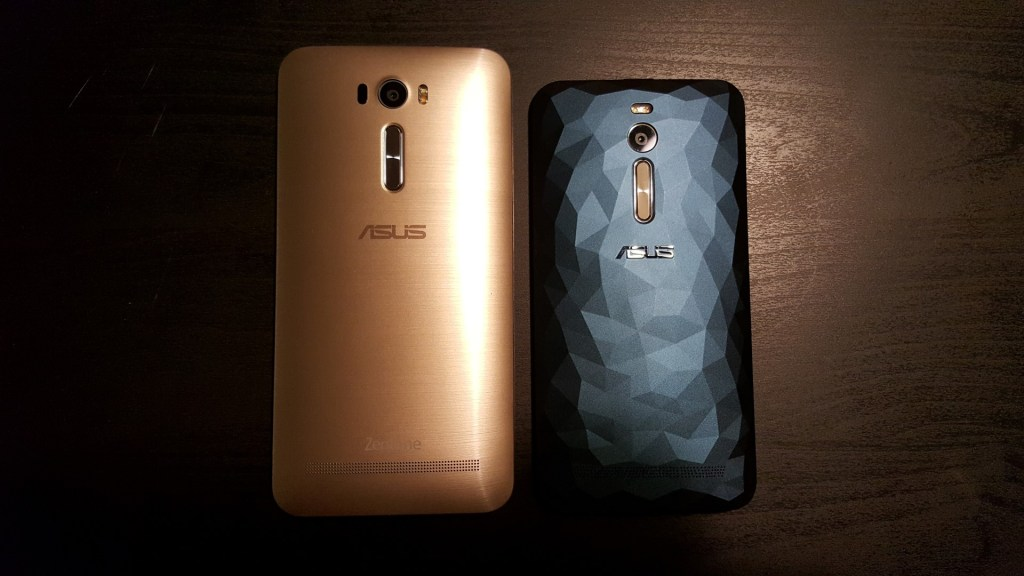 The Asus Zenfone 2 Laser 6.0 (left) compared to the Asus Zenfone 2