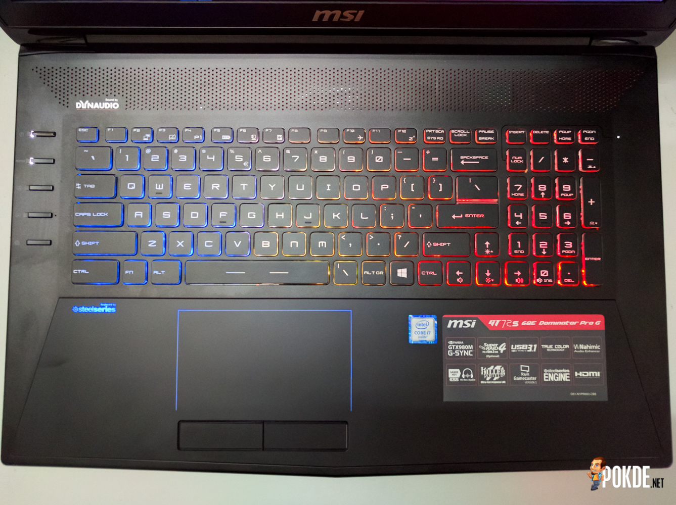 Unlocked Previous Msi Gt72 Dominator Geek Tattoos Gt72s 6qf Pro G Gaming Laptop Dragon Edition Heres A Better Look At The Lower Half Of 6qe