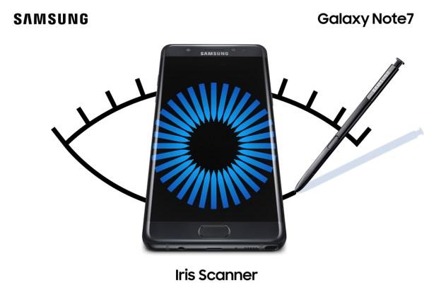 Galaxy Note 7 iris scanner
