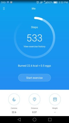 honor 5C step counter