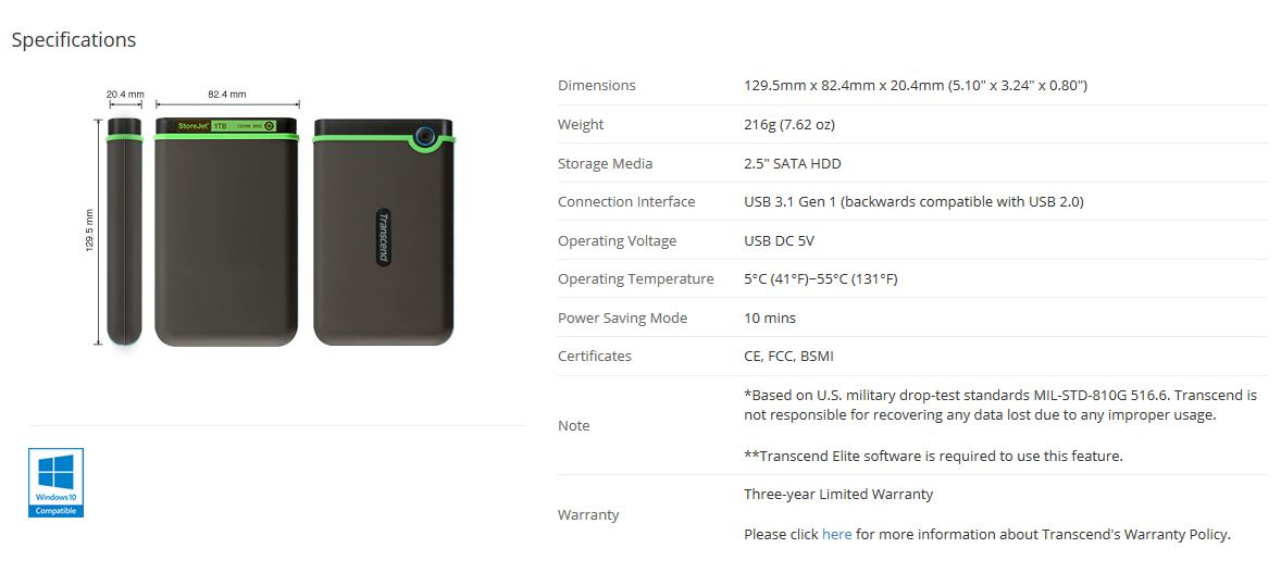 transcend storejet 25mc 1tb review  u2014 with a usb type