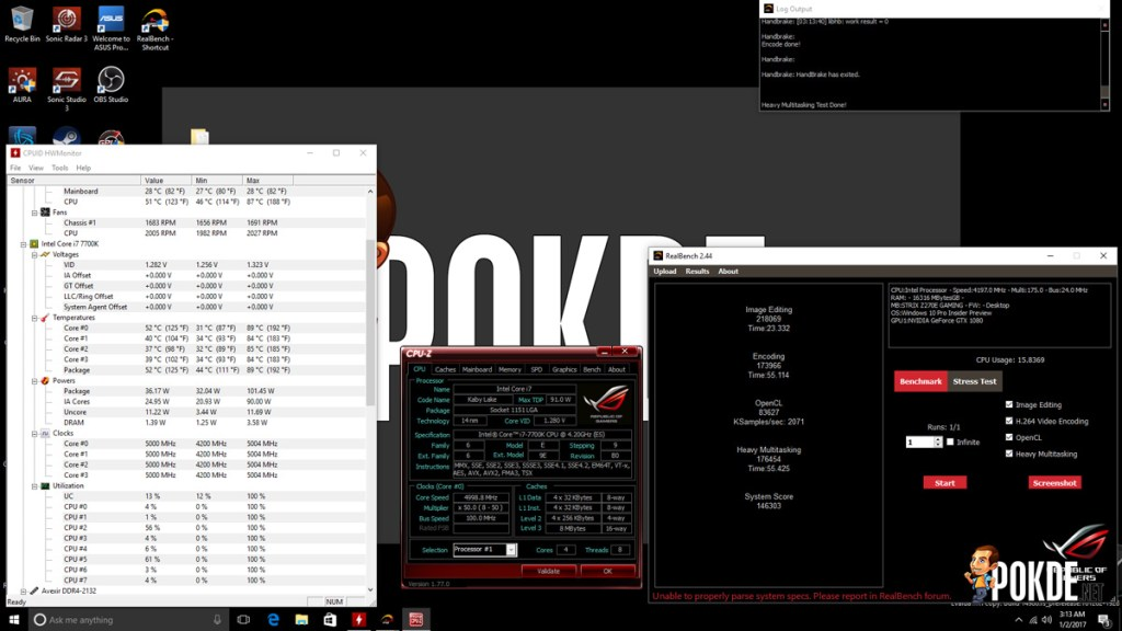 ASUS ROG Strix Z270E Review + Intel Core i7-7700K Kaby Lake CPU 42