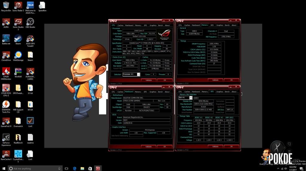 ASUS ROG Strix Z270E Review + Intel Core i7-7700K Kaby Lake CPU 38