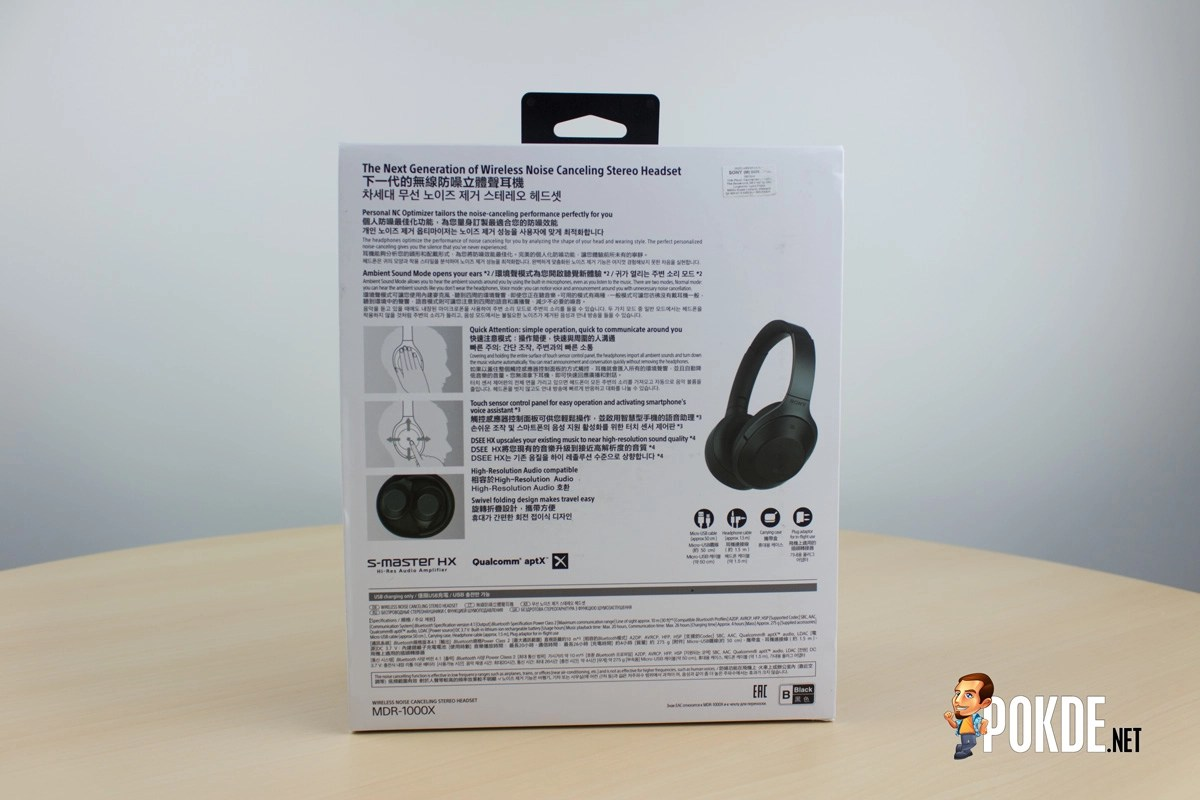 Sony Mdr 1000x Wireless Headset Review Noise Cancelling Beyond Headphone At The Back We Have All Detailed Specifications Of As Well More Images Product Itself Also There Is A Quick Guide For
