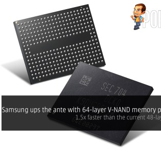 Samsung ups the ante with 64-layer V-NAND memory production; 1.5x faster than the current 48-layer V-NAND 34