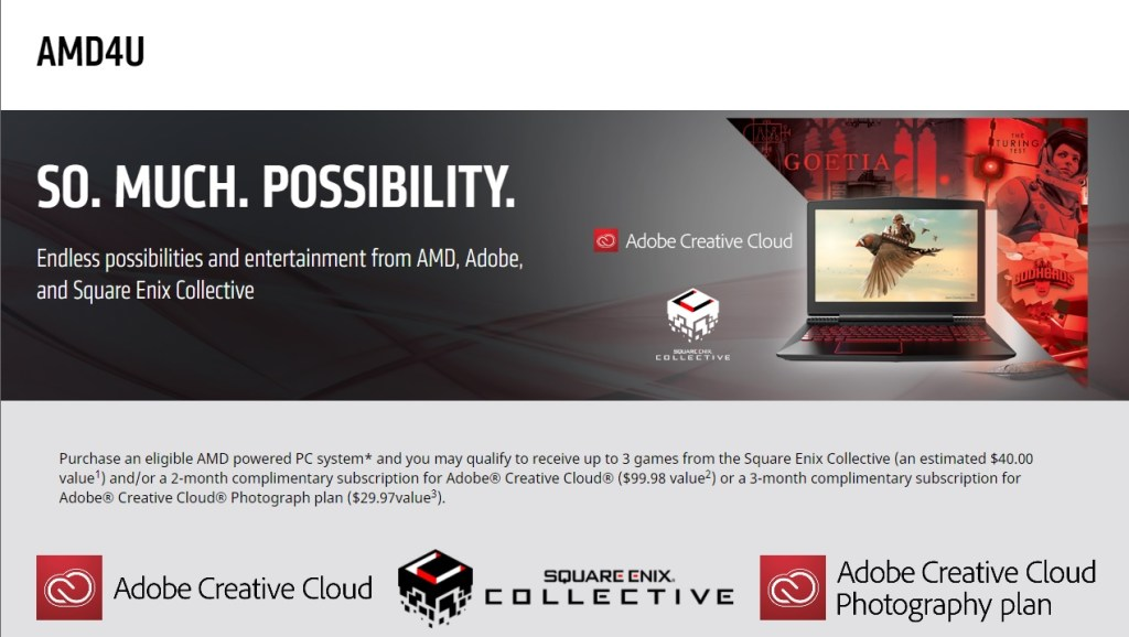 AMD4U Square Enix Collective AMD Free Games