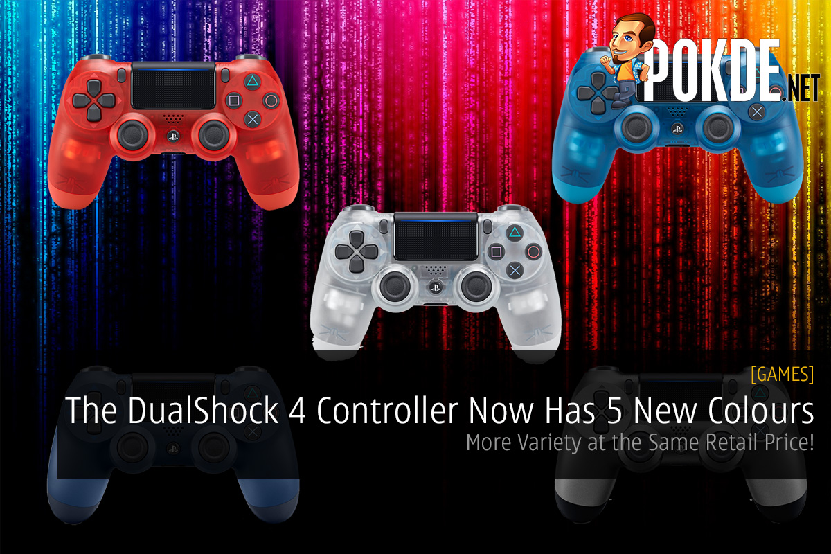 The Dualshock 4 Controller Now Has 5 New Colours More Variety At Stik Ps4 Model Glacier White Same Retail Price Pokde