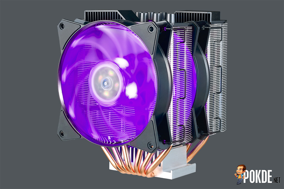 Ces2018 Rgb Cooling Is The Name Of Game For Cooler Master Air Maker 8 Easy To Install And With Performance On Par Entry Level Liquid Coolers Now Double It There You Go Masterair