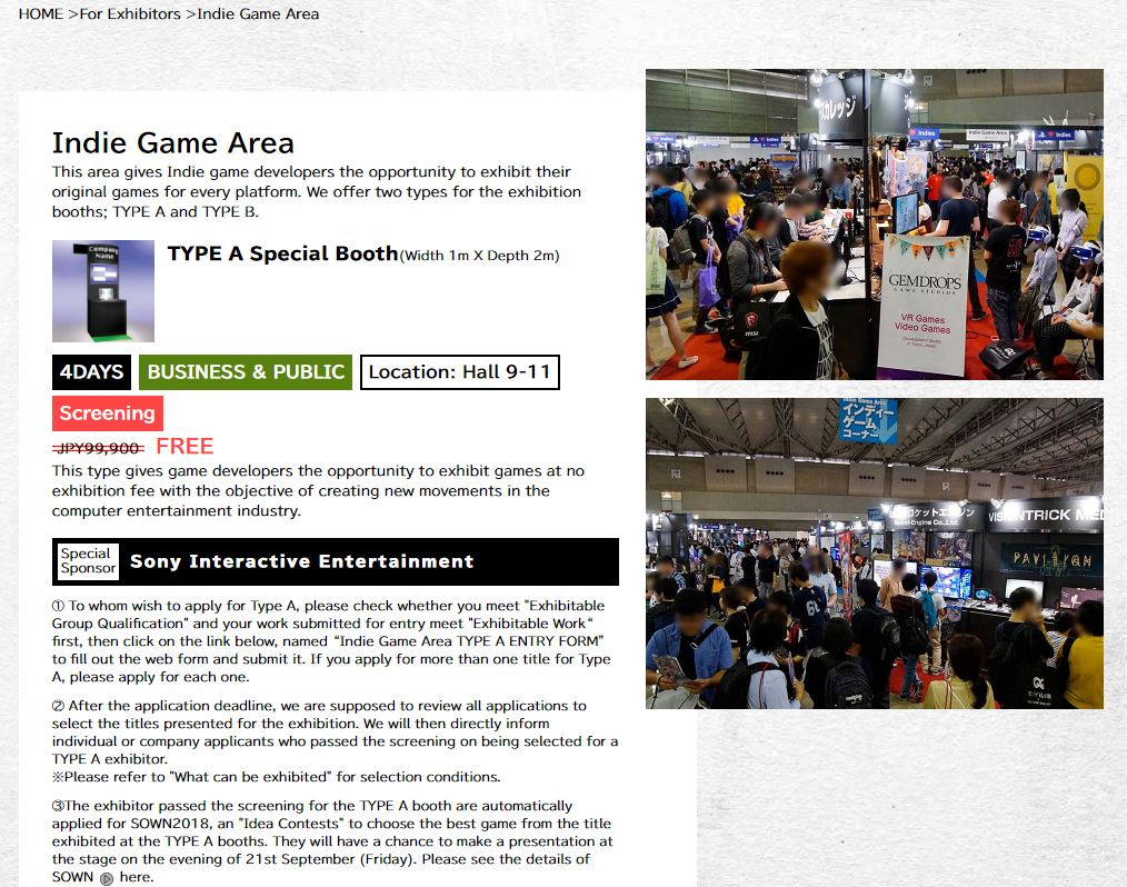 Tokyo Game Show 2018: Sony Sponsoring Indie Developers Again This Year