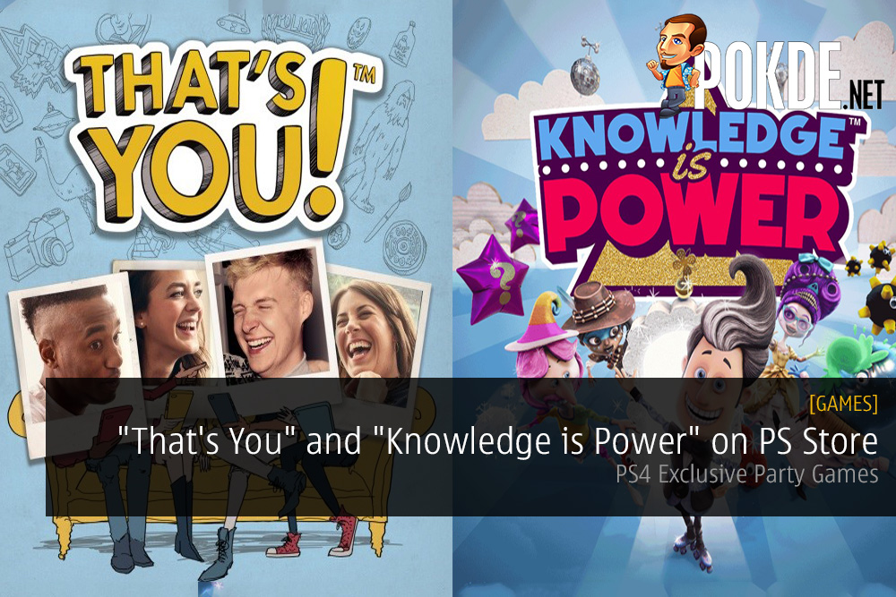 """""""That's You"""" and """"Knowledge is Power"""" Released on PS Store - PS4 Exclusive Party Games"""