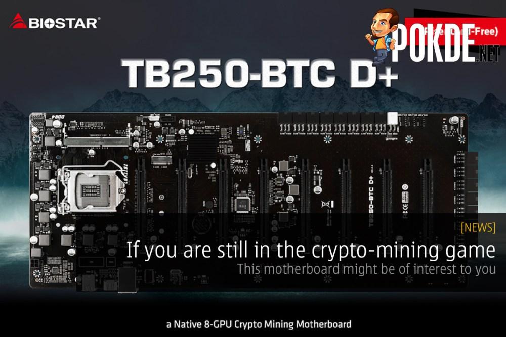 If you are still in the crypto-mining game, this motherboard might