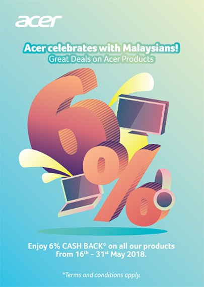 Enjoy Cashback with Acer Malaysia Products
