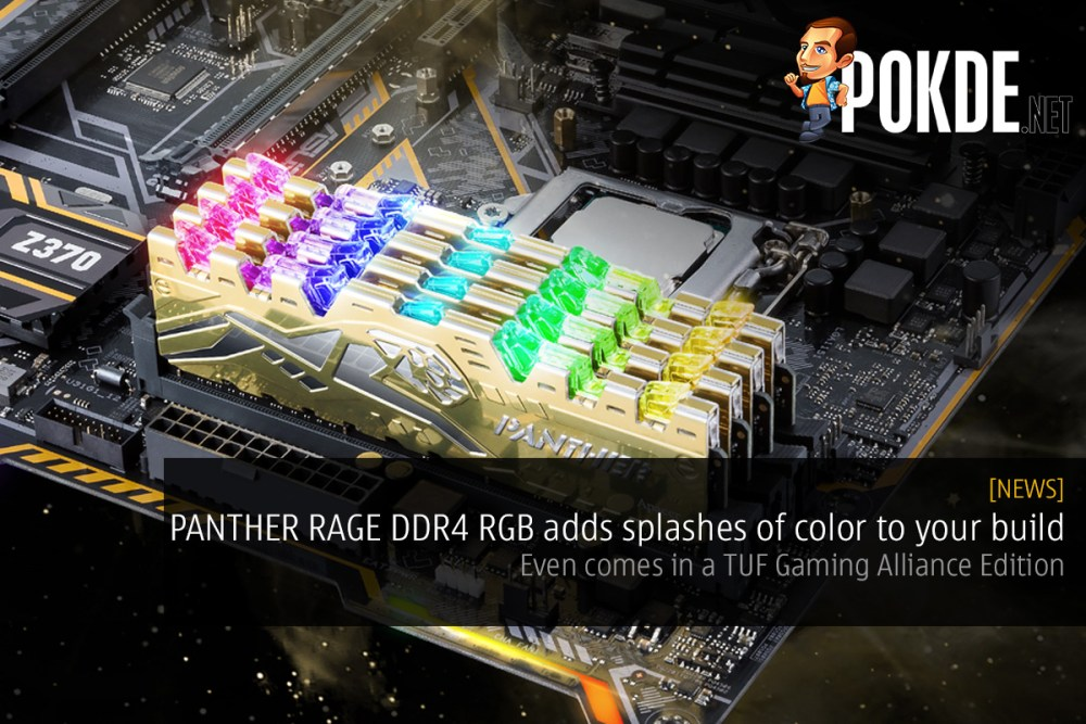 c36dd343 PANTHER RAGE DDR4 RGB adds splashes of color to your build — even ...