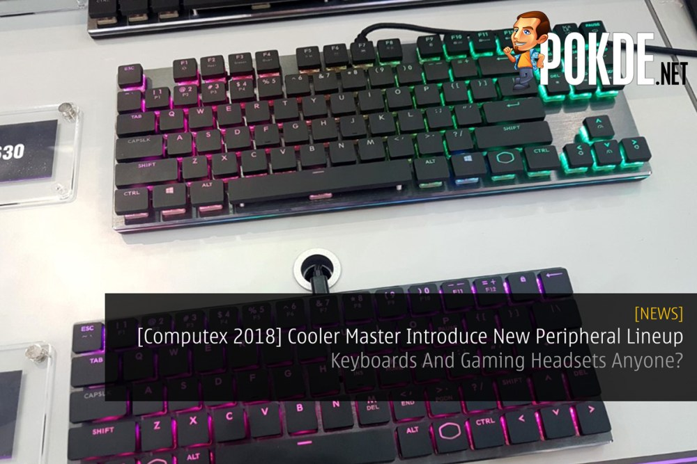 Computex 2018] Cooler Master Introduce New Peripheral Lineup