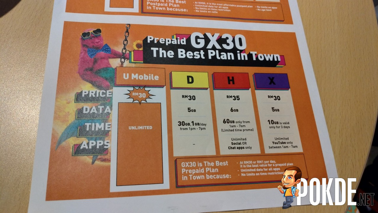 Video Comparison] U Mobile Giler Unlimited GX30 and GX50