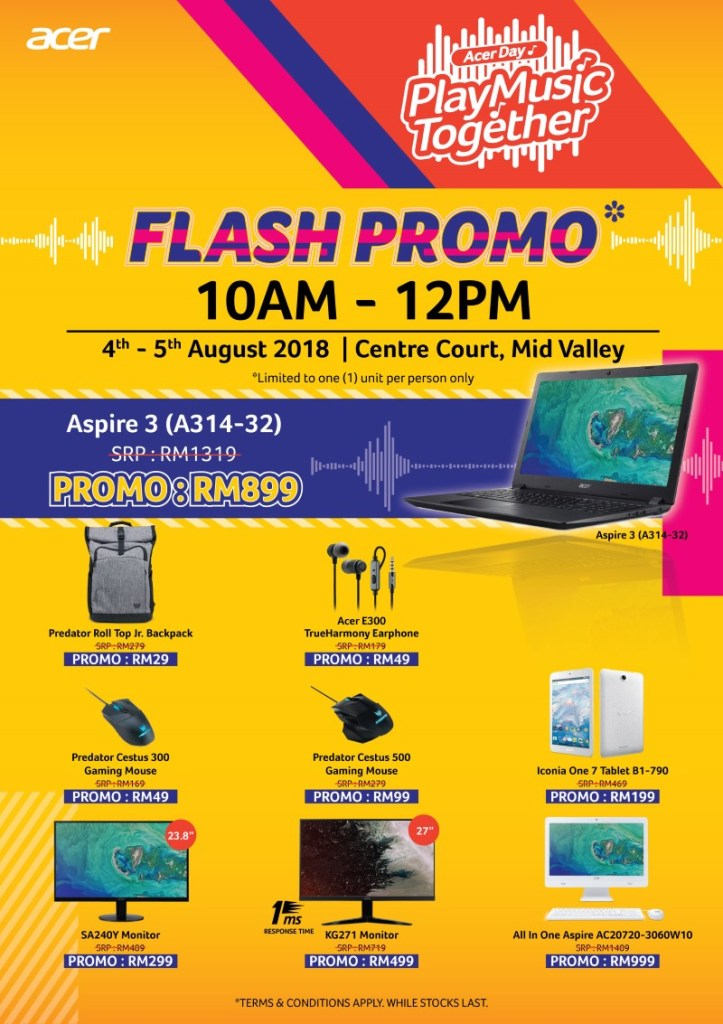 Acer Day Play Music Together Promo — Deals Include A 144hz Curved Gaming Monitor For Just RM599! 19