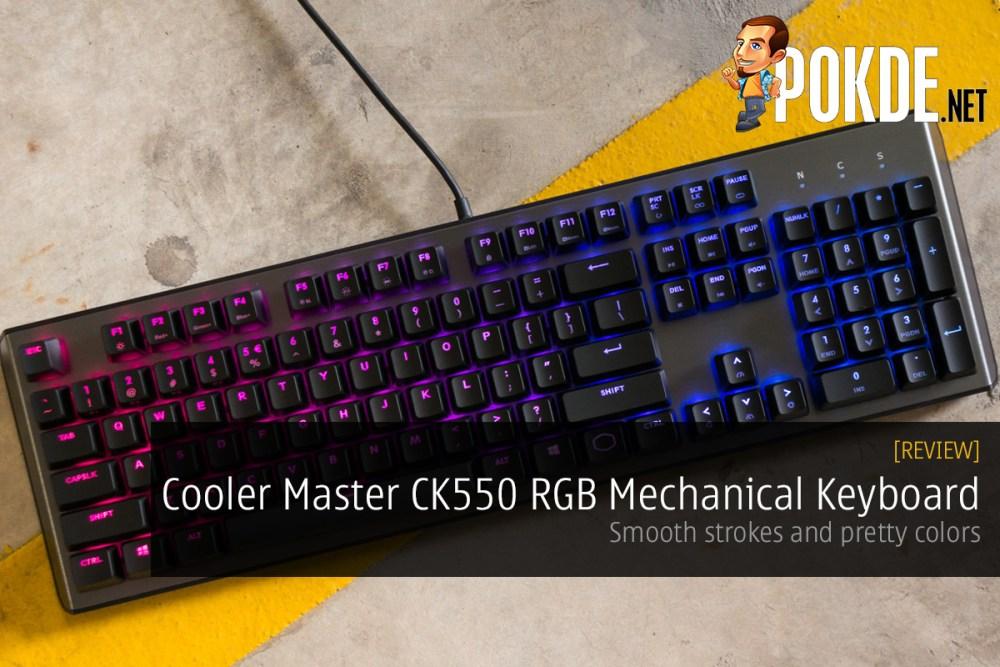 Cooler Master CK550 RGB Mechanical Keyboard Review — smooth