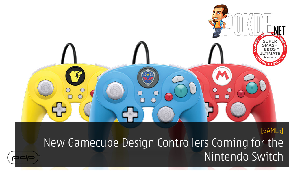New Gamecube Design Controllers Coming for the Nintendo Switch