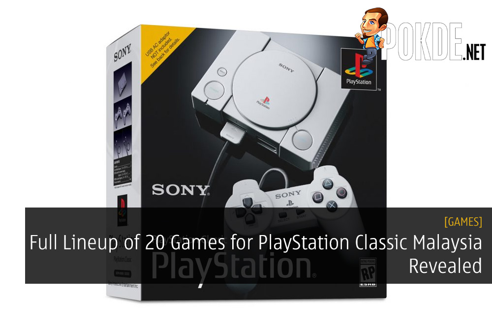 Full Lineup of 20 Games for PlayStation Classic Malaysia Revealed