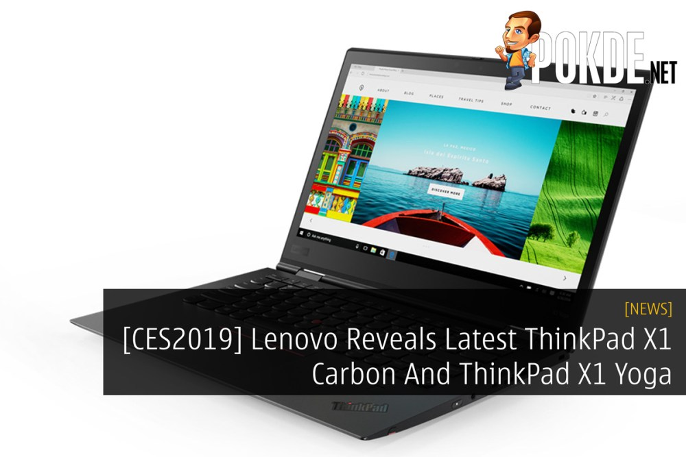 CES2019] Lenovo Reveals Latest ThinkPad X1 Carbon And ThinkPad X1