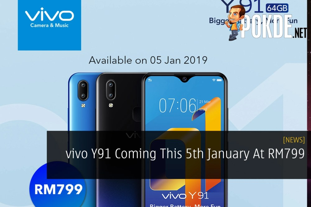 vivo Y91 Coming This 5th January At RM799 – Pokde
