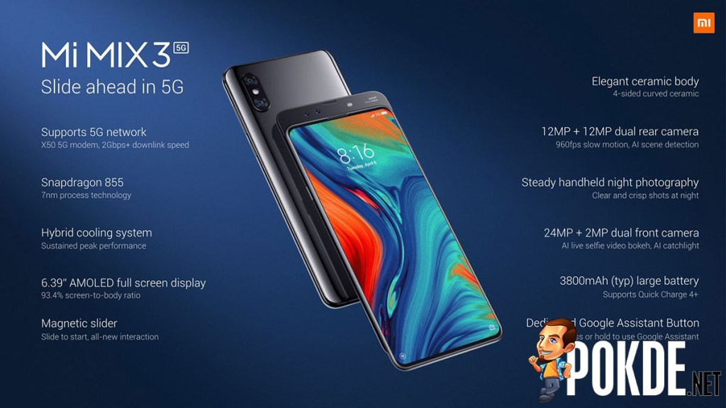 [MWC2019] Xiaomi Mi MIX 3 5G announced with a larger battery and a higher price point 31