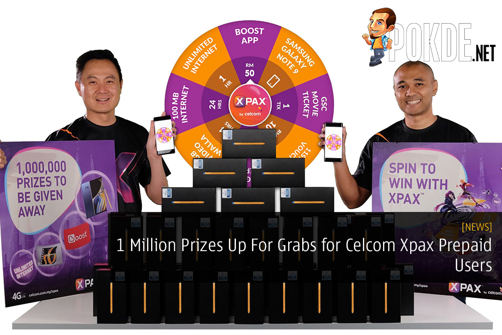 1 Million Prizes Up For Grabs for Celcom Xpax Prepaid Users