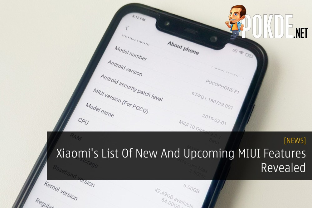 Xiaomi's List Of New And Upcoming MIUI Features Revealed – Pokde