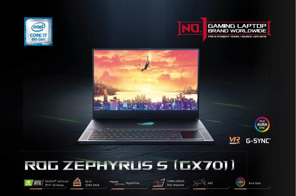 ASUS ROG Zephyrus S GX701 Launched in Malaysia