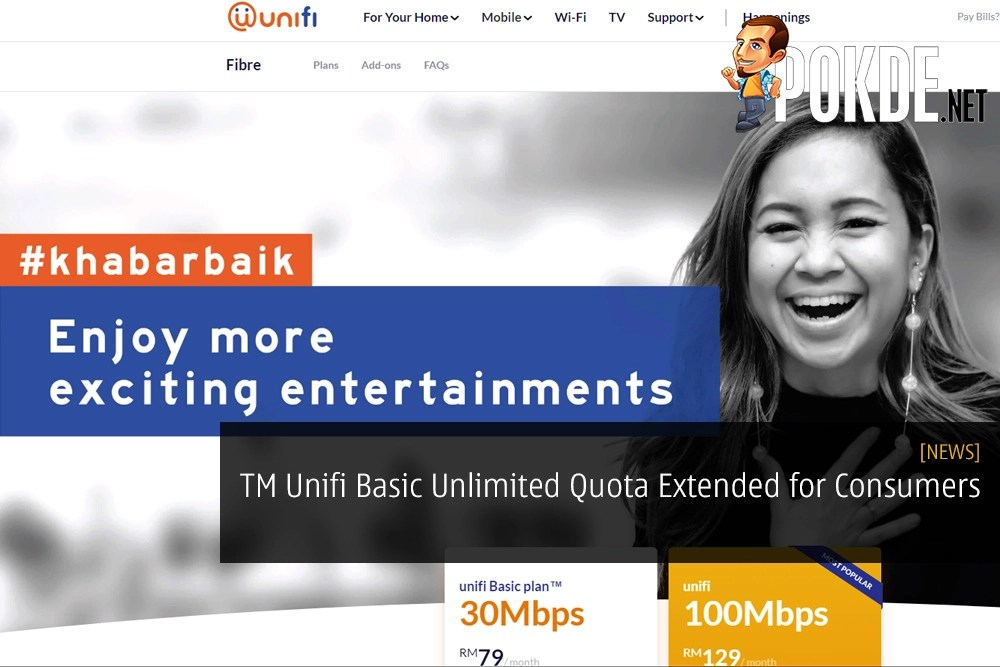 TM Unifi Basic Unlimited Quota Extended for Consumers