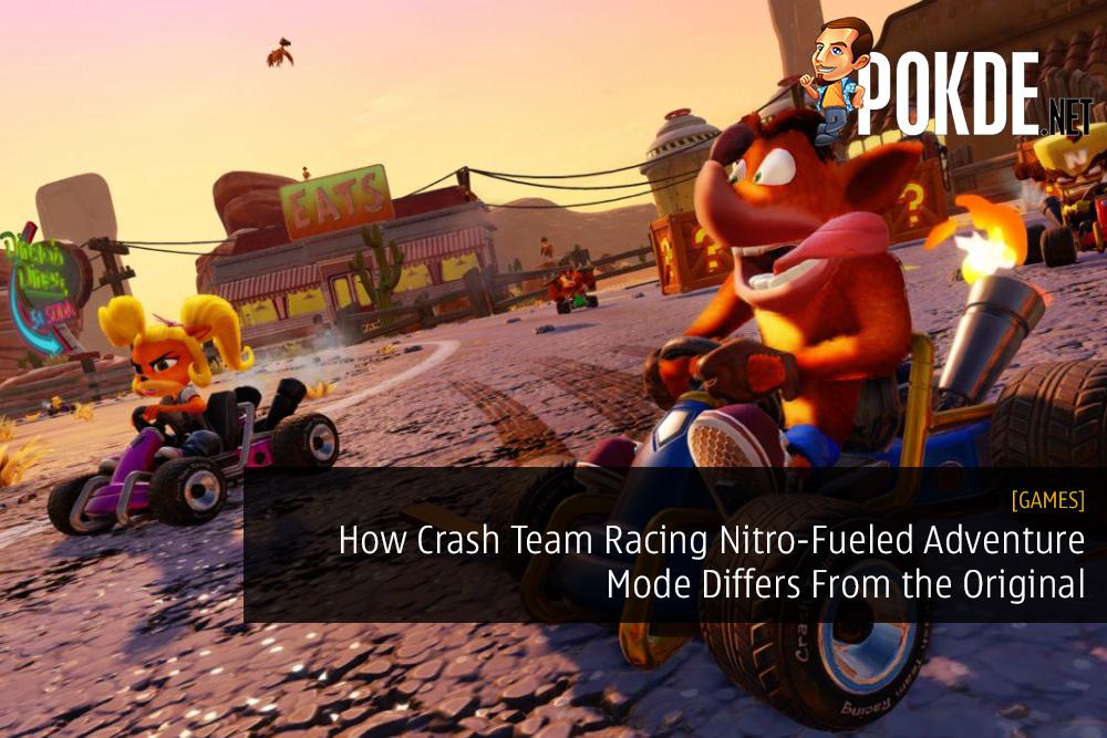 How Crash Team Racing Nitro-Fueled Adventure Mode Differs From the Original