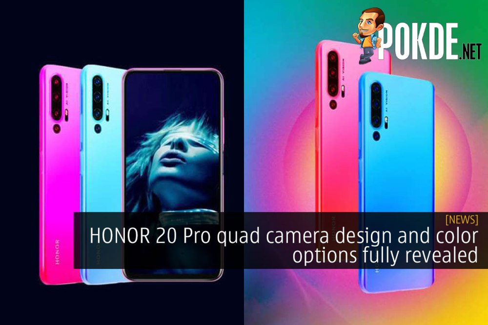 HONOR 20 Pro quad camera design and color options fully revealed 24