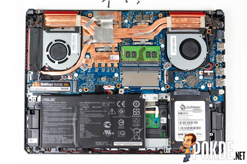 What can you upgrade in the ASUS TUF Gaming FX505D? 31