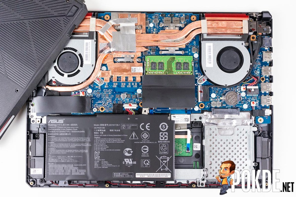 What can you upgrade in the ASUS TUF Gaming FX505D? 27