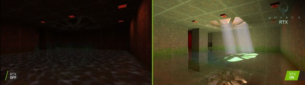 quake ii rtx comparison rtx on rtx off