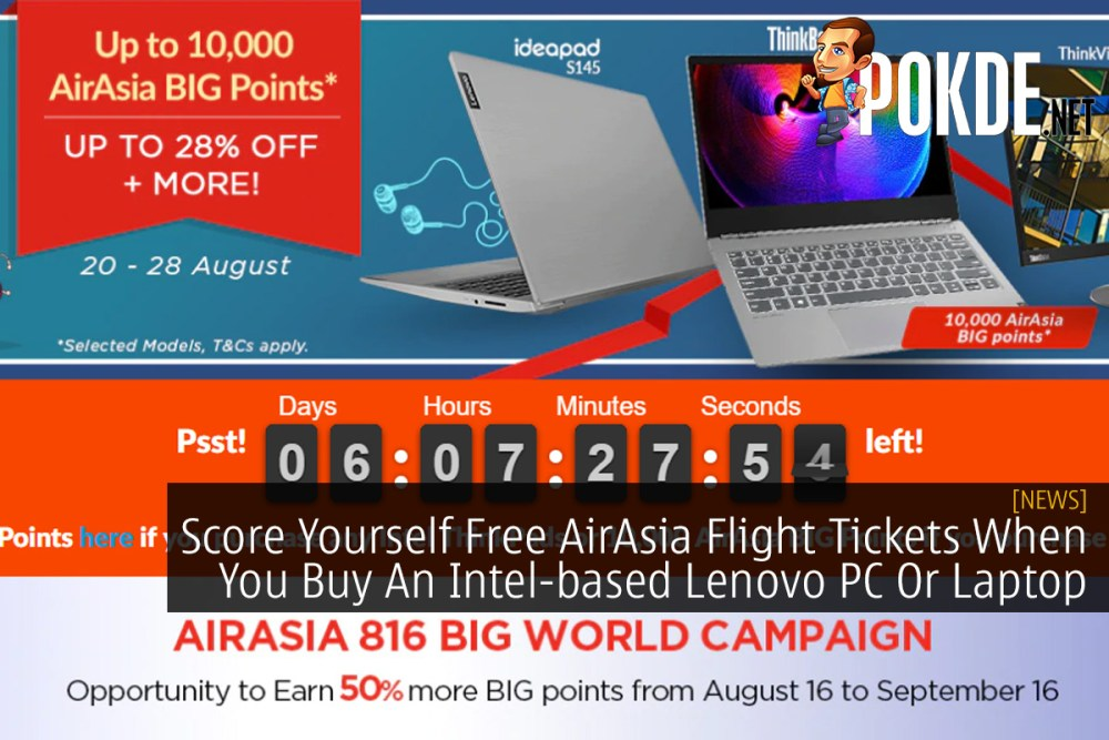 Score Yourself Free AirAsia Flight Tickets When You Buy An Intel-based Lenovo PC Or Laptop 32