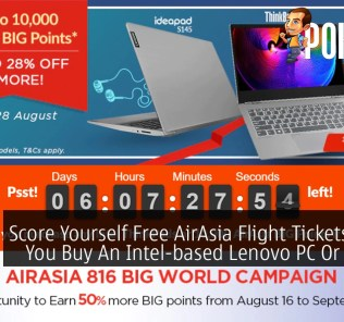 Score Yourself Free AirAsia Flight Tickets When You Buy An Intel-based Lenovo PC Or Laptop 37